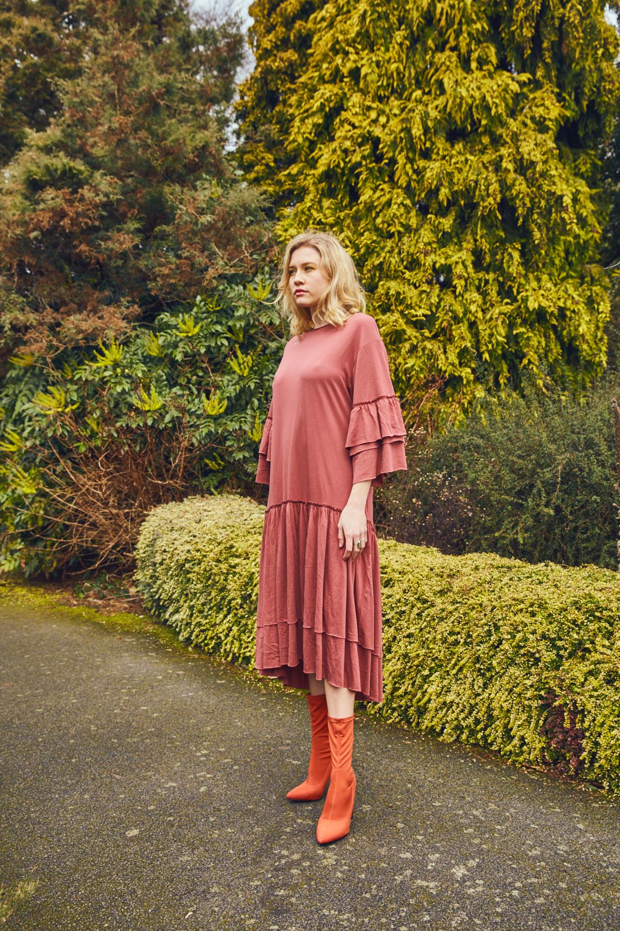 Clare in the garden