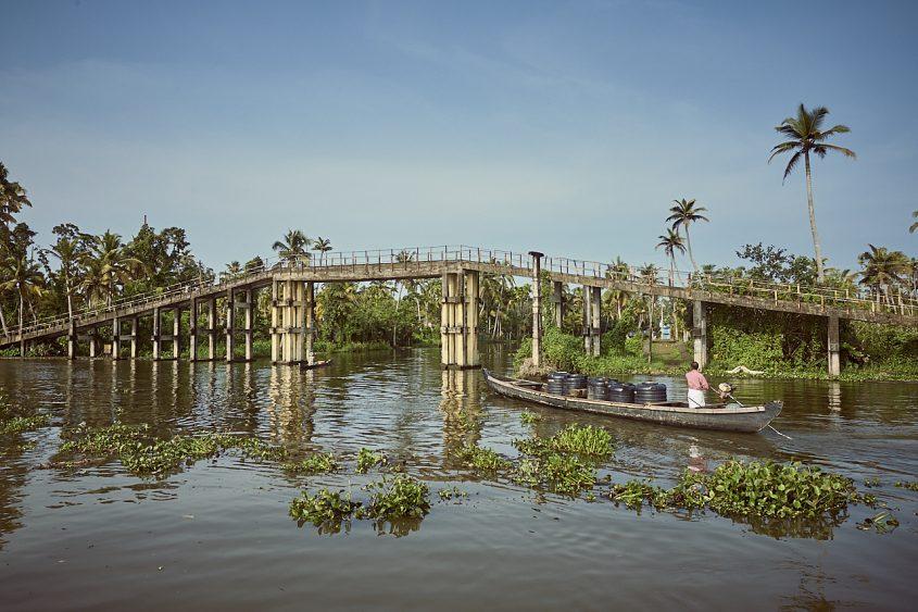 Bridge on the Kerala backwaters