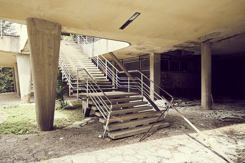 Deserted building Slovenia stairs