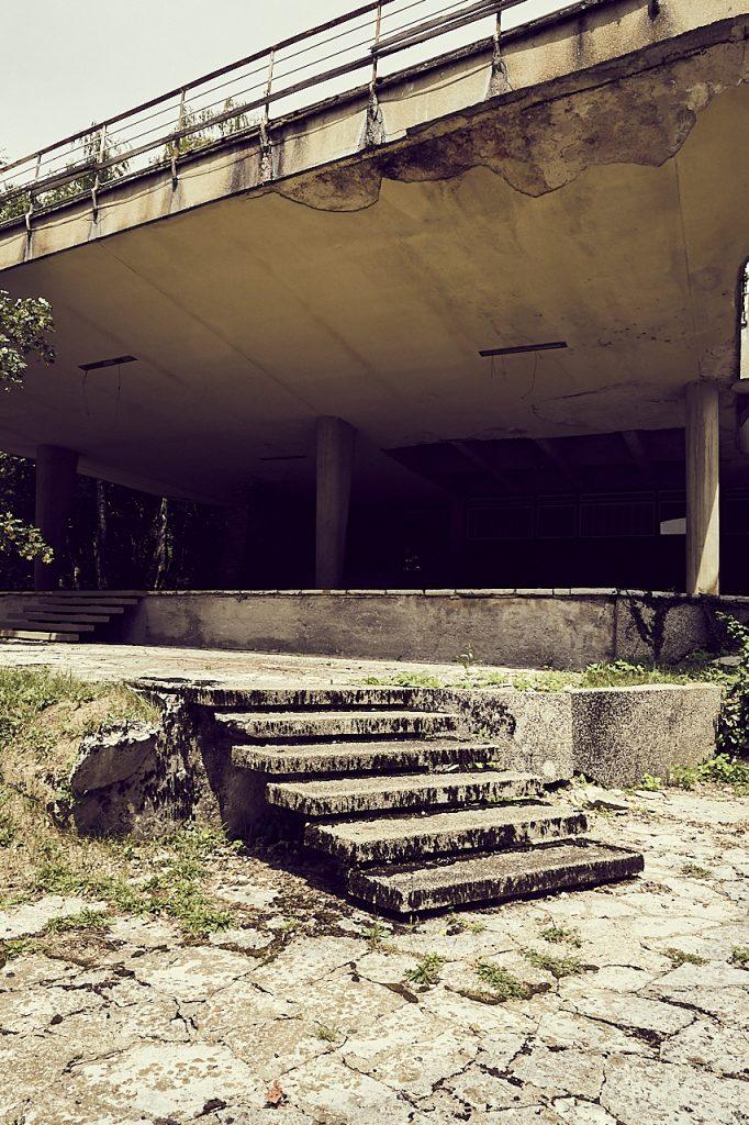 Deserted building Slovenia steps