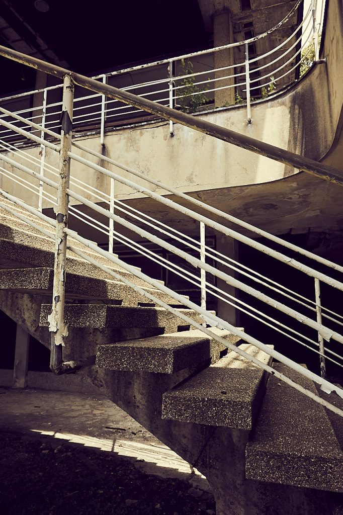 Deserted building Slovenia interior steps