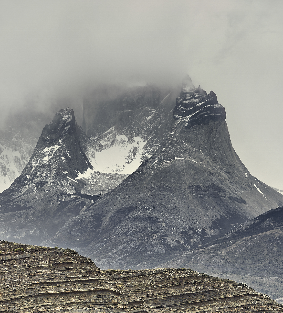 Patagonian peaks and clouds