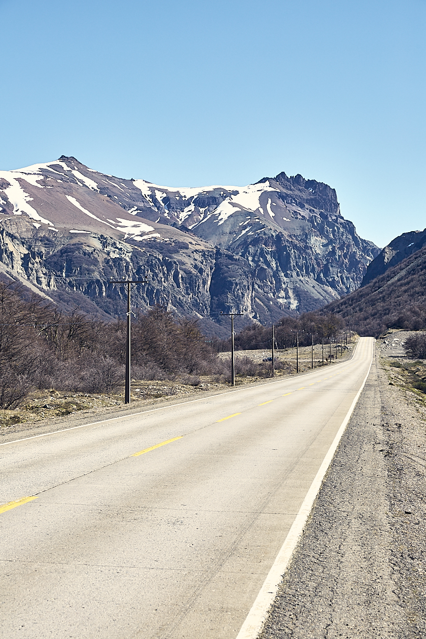 Patagonian Highway with Mountains