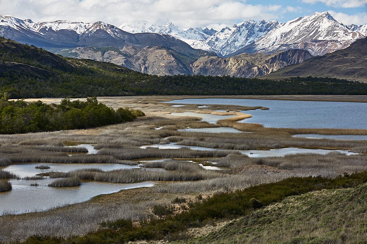 Patagonian lake view